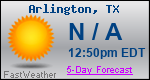 Weather Forecast for Arlington, TX