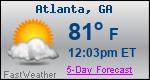 Weather Forecast for Atlanta, GA