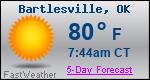Weather Forecast for Bartlesville, OK