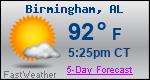 Weather Forecast for Birmingham, AL