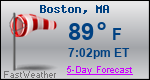 Weather Forecast for Boston, MA