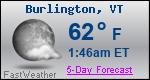 Weather Forecast for Burlington, VT