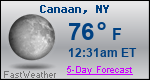 Weather Forecast for Canaan, NY
