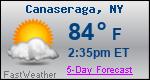 Weather Forecast for Canaseraga, NY
