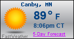 Weather Forecast for Canby, MN