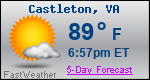 Weather Forecast for Castleton, VA