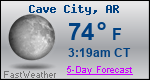 Weather Forecast for Cave City, AR