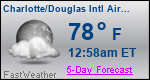 Weather Forecast for Charlotte/Douglas International Airport, NC