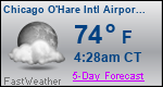 Weather Forecast for Chicago O'Hare International Airport, IL