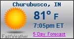 Weather Forecast for Churubusco, IN