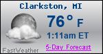 Weather Forecast for Clarkston, MI