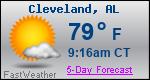 Weather Forecast for Cleveland, AL