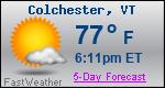 Weather Forecast for Colchester, VT