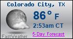 Weather Forecast for Colorado City, TX