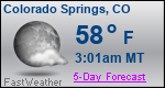 Weather Forecast for Colorado Springs, CO