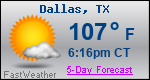 Weather Forecast for Dallas, TX