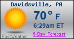 Weather Forecast for Davidsville, PA