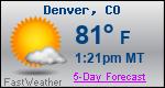 Weather Forecast for Denver, CO