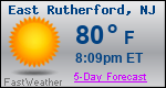 Weather Forecast for East Rutherford, NJ