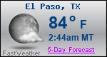 Weather Forecast for El Paso, TX