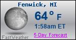 Weather Forecast for Fenwick, MI