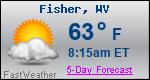 Weather Forecast for Fisher, WV