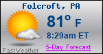 Weather Forecast for Folcroft, PA