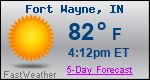 Weather Forecast for Fort Wayne, IN