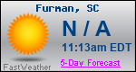 Weather Forecast for Furman, SC