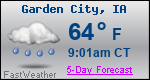 Weather Forecast for Garden City, IA