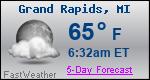 Weather Forecast for Grand Rapids, MI