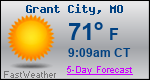 Weather Forecast for Grant City, MO
