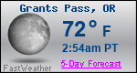 Weather Forecast for Grants Pass, OR