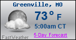 Weather Forecast for Greenville, MO