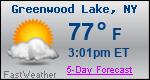 Weather Forecast for Greenwood Lake, NY