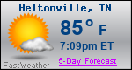 Weather Forecast for Heltonville, IN