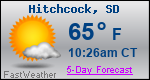 Weather Forecast for Hitchcock, SD