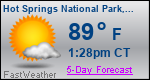 Weather Forecast for Hot Springs National Park, AR