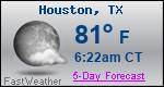 Weather Forecast for Houston, TX