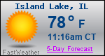 Weather Forecast for Island Lake, IL