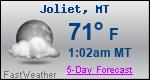 Weather Forecast for Joliet, MT