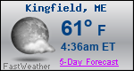 Weather Forecast for Kingfield, ME