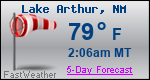 Weather Forecast for Lake Arthur, NM