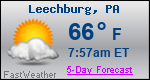 Weather Forecast for Leechburg, PA