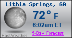 Weather Forecast for Lithia Springs, GA