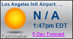 Weather Forecast for Los Angeles International Airport, CA