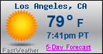 Weather Forecast for Los Angeles, CA