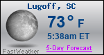 Weather Forecast for Lugoff, SC