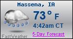 Weather Forecast for Massena, IA