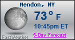 Weather Forecast for Mendon, NY